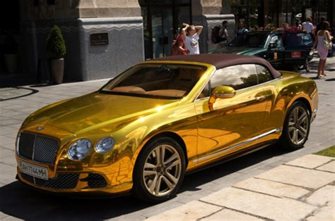 gold bentley best car gold plated bentley continental gtc in budapest