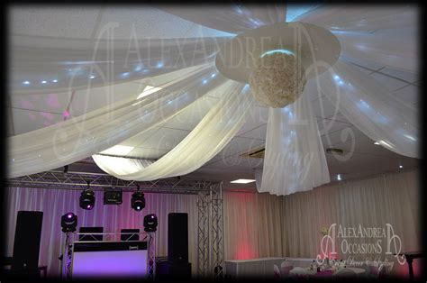 ceiling drapes with fairy lights wedding event ceiling drapes london hertfordshire