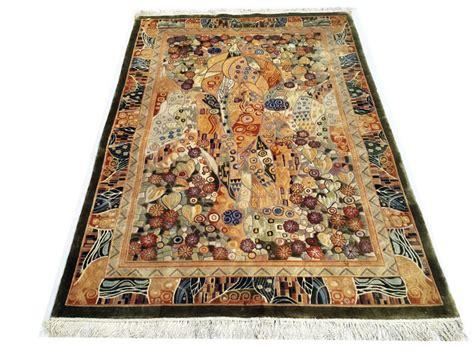 gustav klimt rugs fantastic deco rug in 100 silk design gustav klimt 202x141 cm catawiki