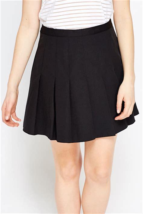 black pleated mini skirt just 163 5