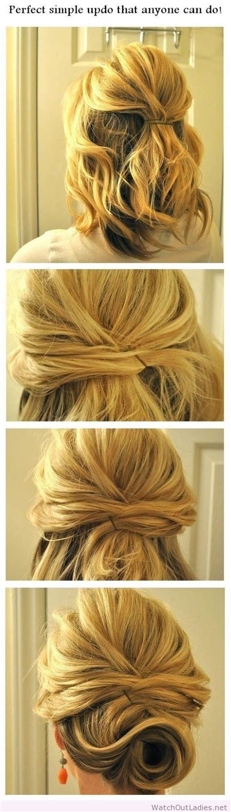 Perfect simple updo that anyone can do at home   hairstyles!   Pinterest   Simple updo, Updo and