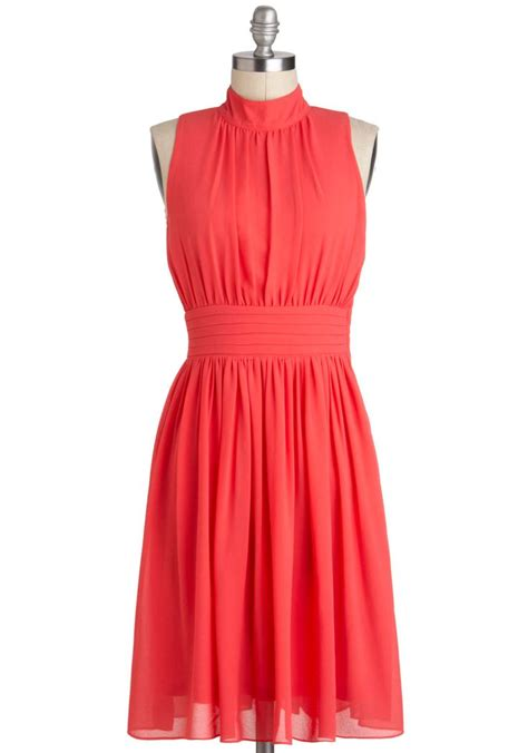 coral colored dresses windy city dress in coral solid a line