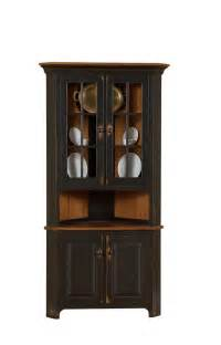 Corner Dining Room Hutch by Amish Plymouth Corner Hutch