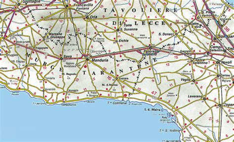 tavoliere delle puglie cartina la cartina della puglia con mappa delle varie subregioni