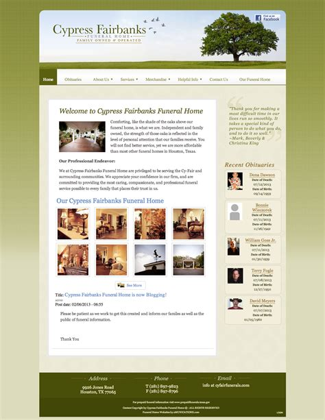 funeral home website design gooosen