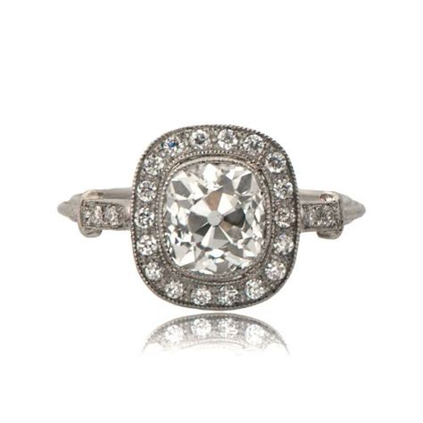 11251 mine cushion cut engagement ring tv