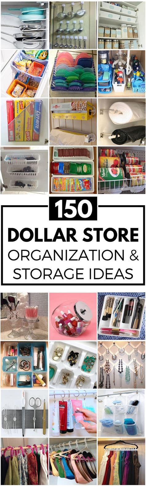 dollar store organizing ideas 150 diy dollar store organization and storage ideas