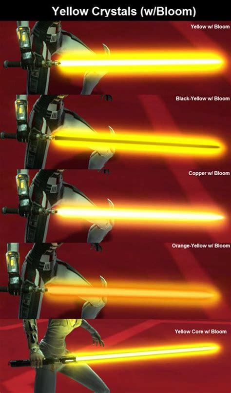 kotor lightsaber colors yellow lightsaber swtor thepix info