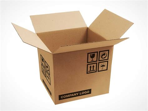 mockup design box free corrugated carton box packaging psd mockup psd mockups