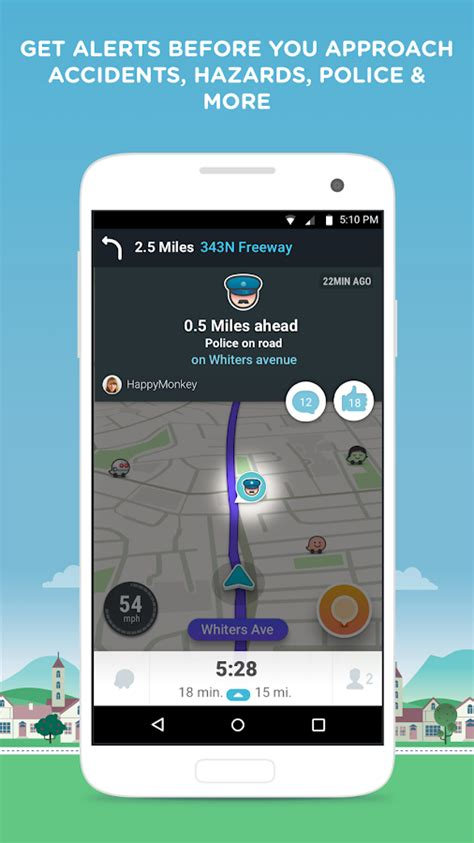 free waze app for android waze gps maps traffic alerts live navigation android apps on play