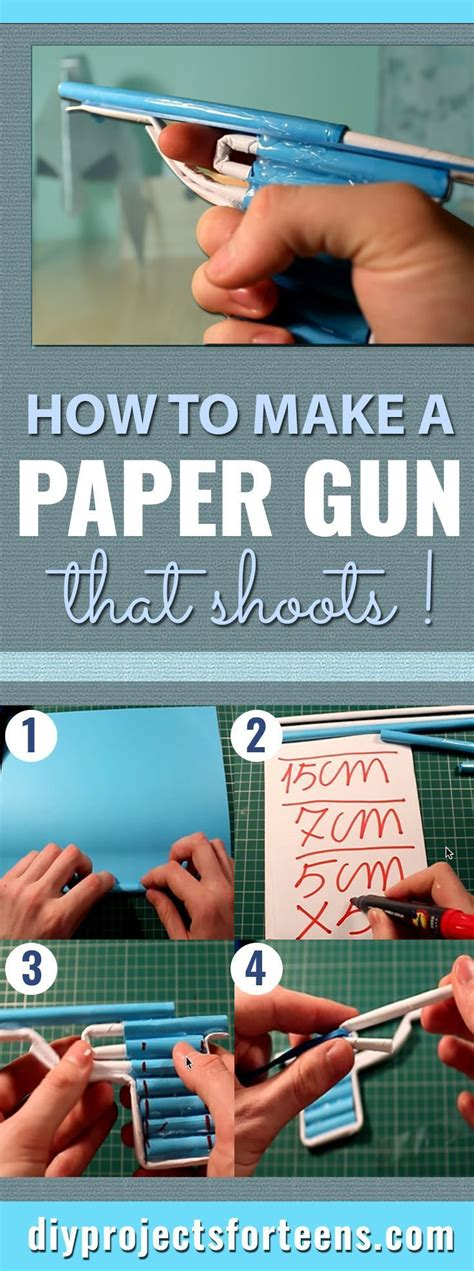 How To Make Paper Weapons At Home - how to make a paper gun that shoots guns craft and diys
