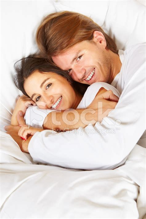 romance in bed couple showing romance on bed stock photos freeimages com