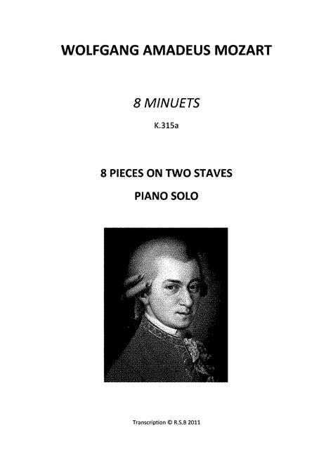 wolfgang amadeus mozart biography pdf 8 minuets k 315a 315g mozart wolfgang amadeus imslp