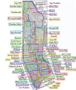 Map Of New York City Boroughs And Neighborhoods by List Of Manhattan Neighborhoods Wikipedia