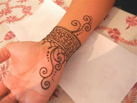 henna wrist tattoos big henna ideas on arm inofashionstyle
