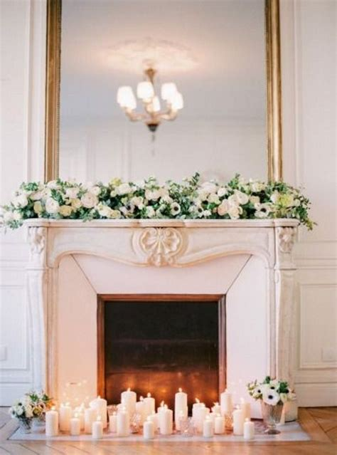 Fireplace Flowers by 50 Wedding Fireplace Decor Ideas Happywedd