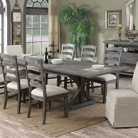rectangular dining room tables with leaves paladin wood rectangular dining table in charcoal by