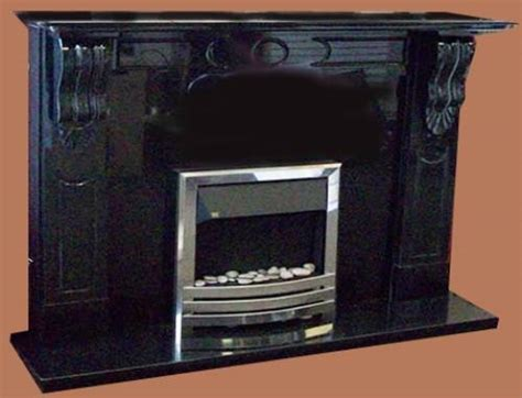 Black Fireplace Surround by Black Marble Fireplace Surround Www Imgkid The
