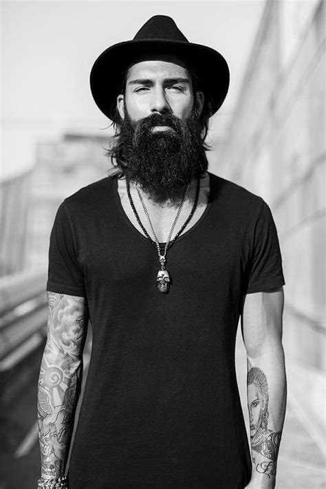 beard tattoo hashtags beard n tattoos simple in black mens street style