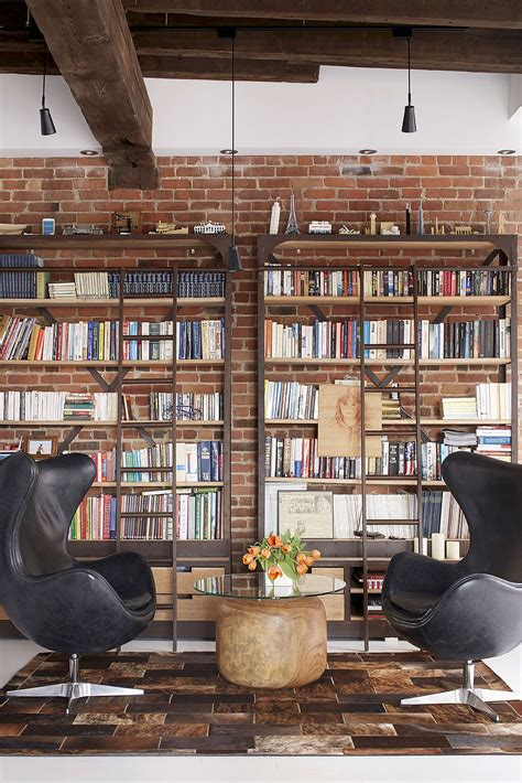 wall decor for library old fire station turned into dashing modern industrial
