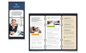 brochure publisher templates free secretarial services tri fold brochure template design