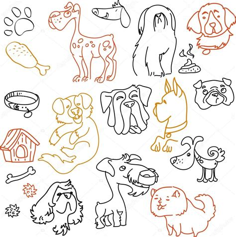 doodle pet pens doodle dogs set pen on paper stock vector 169 caramelina