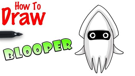 How To Draw Blooper From Mario