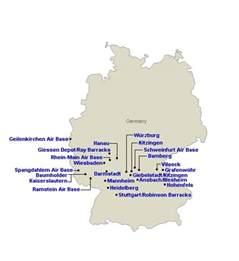 army bases map map germany bases