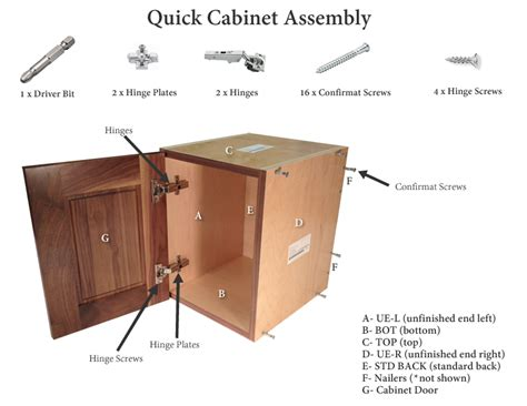 Furniture Assembly Hardware by Sle Cabinet With A Single Door