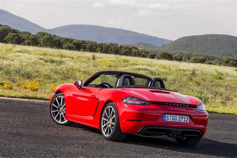 porsche boxster red 2017 porsche 718 boxster review gtspirit