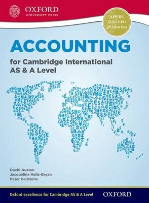 cambridge international as level accounting for cambridge international as and a level 9780198399711 abe ips