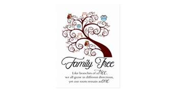 unique family tree design postcard zazzle
