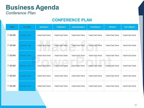 conference presentation template ppt business agenda editable powerpoint template