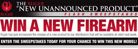 Handgun Sweepstakes - ruger launches new unannounced gun product flash sweepstakes