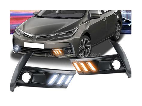 toyota corolla fog lights buy toyota corolla 2017 facelift drl fog light covers in
