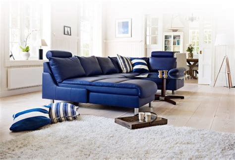 2017 Trendy Blue Leather Sofas For Bright Homes Leather Bright Leather Sofa