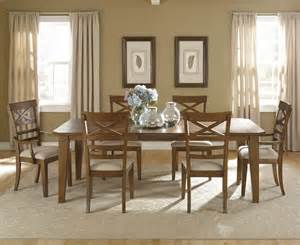 liberty furniture hearthstone 7 piece 108x44 dining room