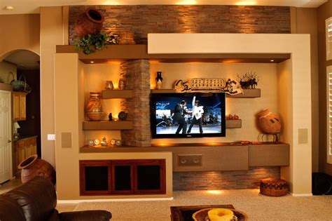 built in entertainment wall design studio design