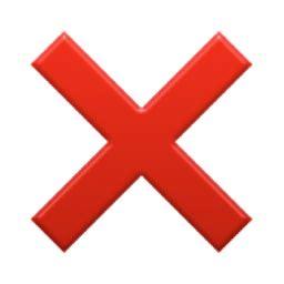 cross mark emoji (u+274c/u+e333)