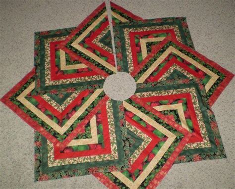 easy quilted tree skirt pattern quilted christmas tree