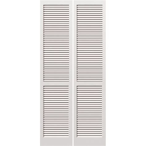 Interior Louvered Doors Lowes Shop Reliabilt Louvered Solid Pine Bifold Closet Door Common 30 In X 80 In Actual 29 5