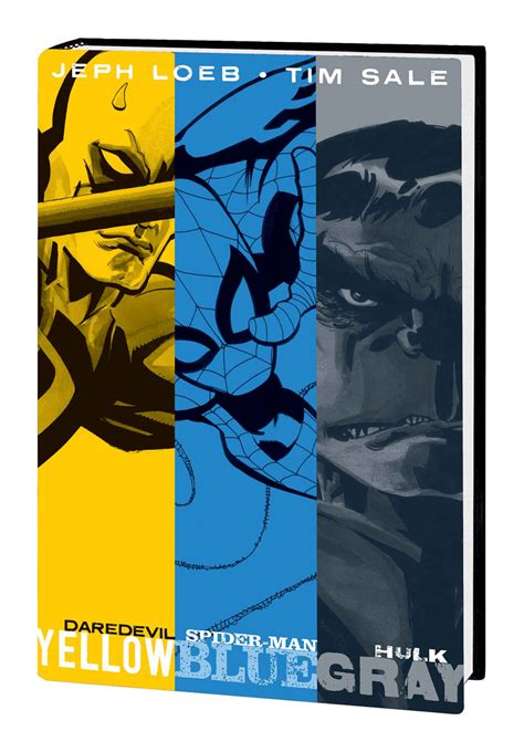 daredevil yellow hc previewsworld jeph loeb and tim sale hc yellow blue and gray