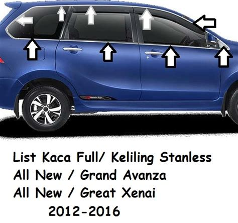 List Belakang Kaca All New Grand Avanza Xenia 1 07 15 16 unik motor