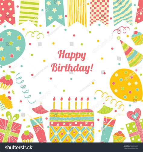 https www freecreatives cards birthday card template html template happy birthday card place text stock vector