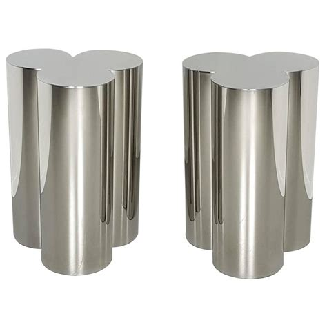 pedestals for dining tables custom trefoil dining table pedestal bases in mirror