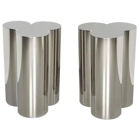 dining room table pedestals custom trefoil dining table pedestal bases in mirror