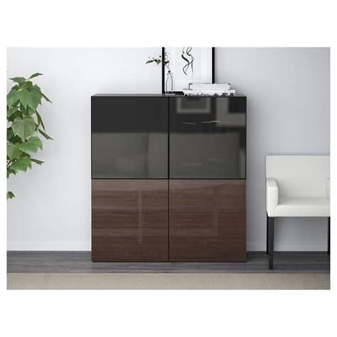 besta storage combination with glass doors best 197 storage combination w glass doors black brown