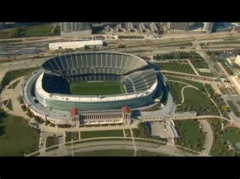 soldier field from the air renovated youtube