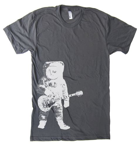Astronaut Panda 2 T Shirt Size Xl mens astronaut guitar outer space t shirt american by lastearth