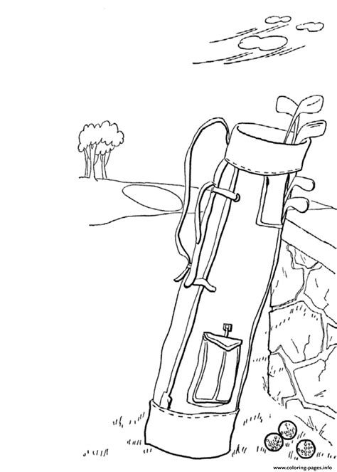Golf Coloring Pages Printable